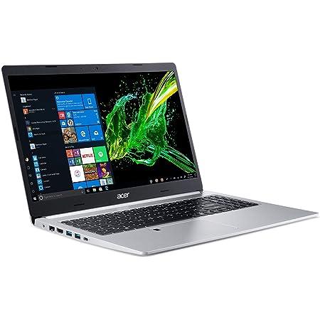"""Acer Aspire 5 Slim Laptop, 15.6"""" Full HD IPS Display, 10th Gen Intel Core i5-10210U, 8GB DDR4, 256GB PCIe NVMe SSD, Intel Wi-Fi 6 AX201 802.11ax, Fingerprint Reader, Backlit KB, A515-54-59W2, Silver"""