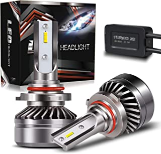 AUSI 9006 HB4 Low Beam LED Headlight Bulbs D6 Series CSP Chips Conversion Kit Fog Lamps, DOT Approved, Adjustable Mini Size Design with fan, 6000K Cool White (2 Pack),2 Yr Warranty