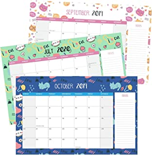 Cat Theme Monthly Calendar | 11 x 17 Inches | 18 Months Track | September 2019 To February 2021 | Unique Outlook | Functional Design | Multiple Benefits | Versatile Usage
