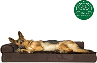 تختخواب سگ FurHaven Pet | تختخواب حیوانات اهلی Deluxe L شکل Chaise Lounge برای سگها و گربه ها - موجود در رنگ ها و سبک های مختلف