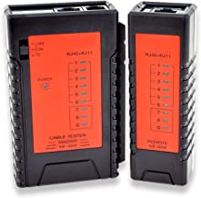 KOLSOL Network LAN Cable Tester 60V RJ45 RJ11 RJ12 Cat5 Cat6 UTP Phone Wire Automatic Test Tool