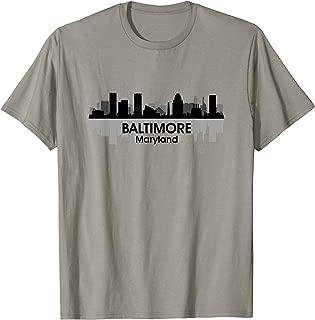 BALTIMORE, MD | Charm City Pride Skyline Art Print T-shirt