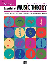 Alfred's Essentials of Music Theory: Teacher's Answer Key, Book & 2 CDs