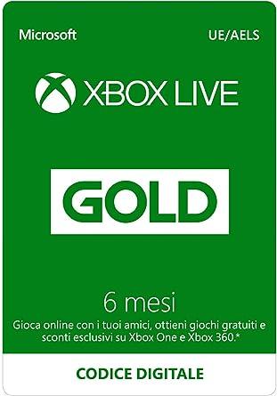 Abbonamento Xbox Live Gold - 6 Mesi | Xbox Live - Codice download