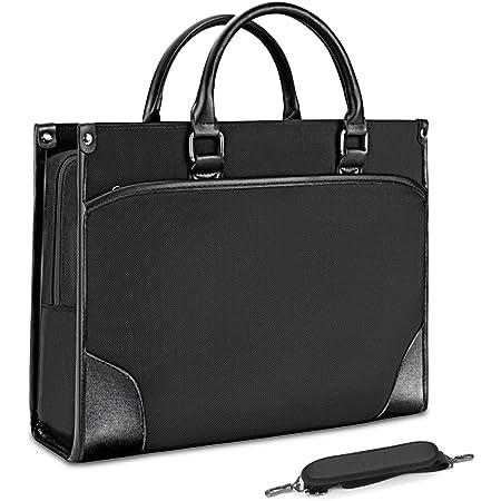 Portafolios para Hombre Maletin Laptop 15.6 Pulgadas Bolsa de Mensajero Maletín para Portátiles para Hombres Negro