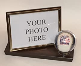 Keepsakes Under Glass Baseball & 4 X 6 Photo Desktop Display Case
