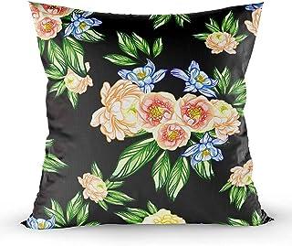 Ducan Lincoln Pillow Case 2PC 18X18 PulgadasFunda De Almohada, Fundas De Almohada para Sofá Fondo Rosa Floral Elegante Encaje Boda Arte Abstracto Telón De Fondo Gran Novia Brillante Celebra Square