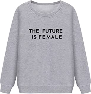 Women Round Neck Sweaters Graphic Cute Pullover Long Sleeve Funny Sweatshirts