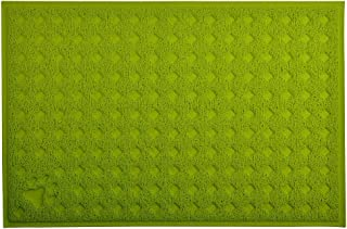 Cat Pet Litter Box Mat,Kitty Litter Rug,Doormat,Rectangle Shape, 23.5x15.75 Inches,4 Colors Available (Lime)