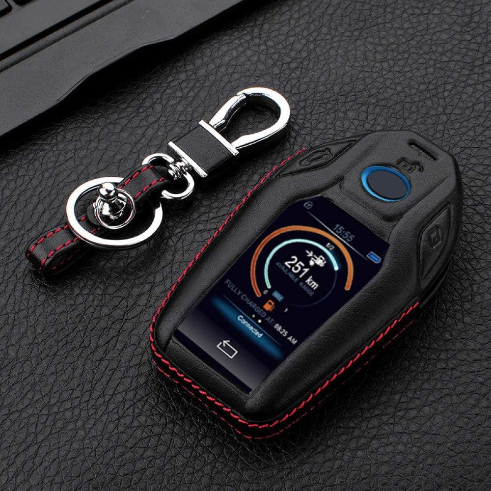 Hezhouji Autoschlüssel Hülle Für Bmw 7er G11 G12 730li 740li 750li Lcd Display Leder Car Key Shape Autoschlüssel Case Cover Schwarz Koffer Rucksäcke Taschen