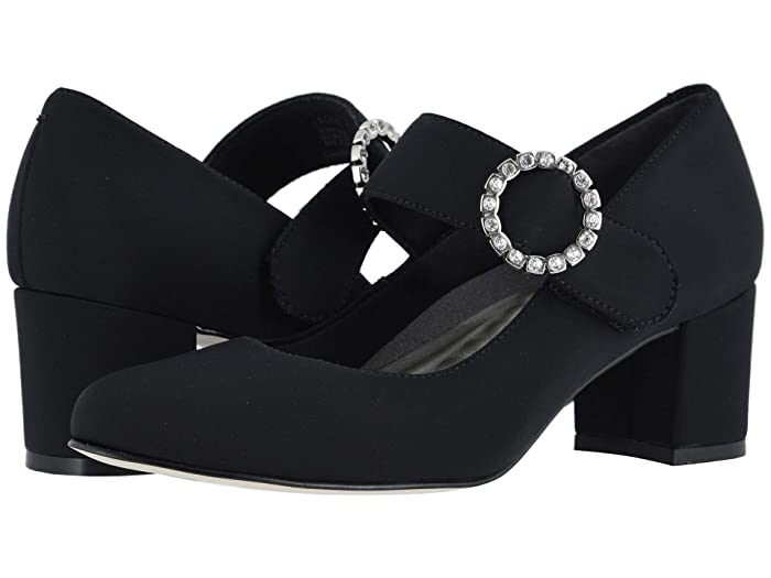 Vintage Style Shoes, Vintage Inspired Shoes Walking Cradles Jackie 3 Black Micro Womens Shoes $109.95 AT vintagedancer.com