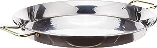 La ideal - Paellera de acero inoxidable, color plateado, 1 pieza, acero inoxidable, plata, 30 x 40 x 30 cm