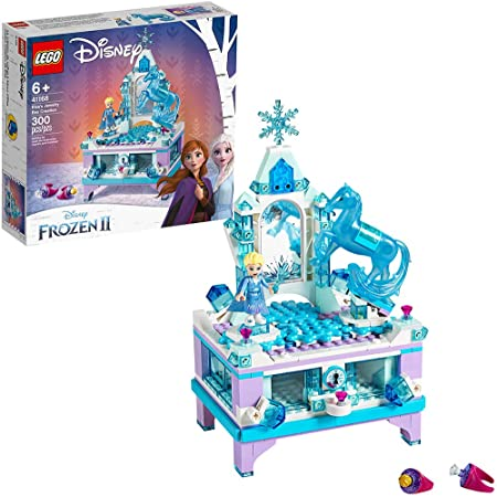 LEGO Disney Frozen II Elsa's Jewelry Box Creation 41168 Disney Jewelry Box Building Kit with Elsa Mini Doll and Nokk Figure for Creative Play (300 Pieces)