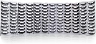 Bella Hair 60 Pairs Reusable Handmade Fake Eyelashes, Imperceptible Lash Band Combined with 6 Natural & Dramatic Styles