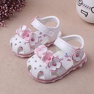 أزياء صندل أطفال كاجوال زهرة الصيف لينة أسفل أحذية صندل للبنات الصغار A A