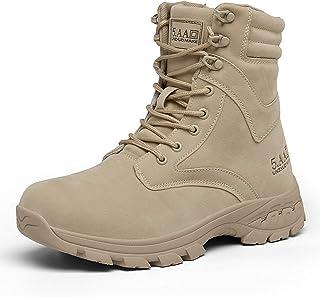 Bottes de Combat Légères D'extérieur Pour Hommes,Bottes de Randonnée Montantes Chaussures de Travail de Sécurité de Bottes...