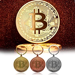 IPOTCH Kits de Llavero Creativo Colgante de Soporte de Almacenaje de Moneda Conmemorativa de 40mm Regalos Ideales para Coleccionistas