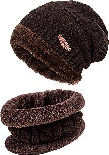 REDESS Winter Warm Beanie Knitting Hat Scarf Neck Warmer Set Men Women … ef1c77a1b67
