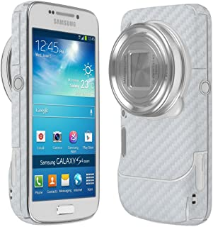 Skinomi Silver Carbon Fiber Full Body Skin Compatible with Samsung Galaxy S4 Zoom (CM-C1010)(Full Coverage) TechSkin with Anti-Bubble Clear Film Screen Protector