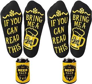 Voqeen Calcetines Divertidos Calcetines de Algodon Cerveza de Otoño y Invierno Unisex para Mujer Hombre,en lata de cerveza, Divertidos Calcetines Regalos de navidad
