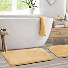 "Memory Foam Bathrug 2 Pack Set - Beige (Cream) - Bath Mat and Shower Rug Large 20"" x 32"" Inches, Non Slip Latex Free Plush..."
