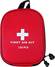 AUSELECT First Aid Kit 120pcs for Hiking, Backpacking, Camping, Travel, Car & Cycling with Waterproof Laminate Bags You Pr...