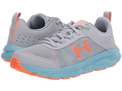 Under Armour Kids UA Assert 8 (Big Kid) (Blue Haze/Yellow Haze/Orange Spark) Girls Shoes