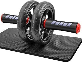 FEELCAT 腹筋ローラー 超静音 アブローラー スリムトレーナー アブホイール 上半身筋トレ 膝保護マット付き 耐荷重200kg