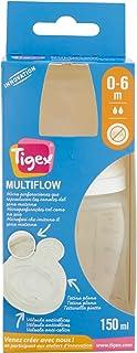 Tigex 1a Edad - Biberón cuello ancho, 150 ml