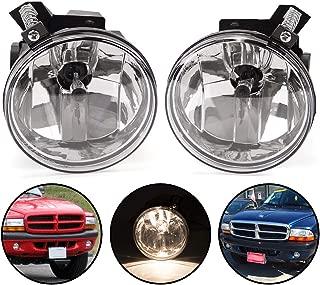 For Dodge Durango 2001-2003 / Dakota Pickup Truck SUV 2001-2004 Clear Lens Front Bumper Fog Light Lamps Assembly Set of 2 LH & RH w/Bulbs