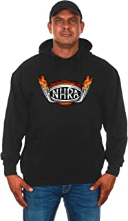 JH DESIGN GROUP Men's NHRA Drag Pipe Flames Pullover Hoodie Sweatshirt