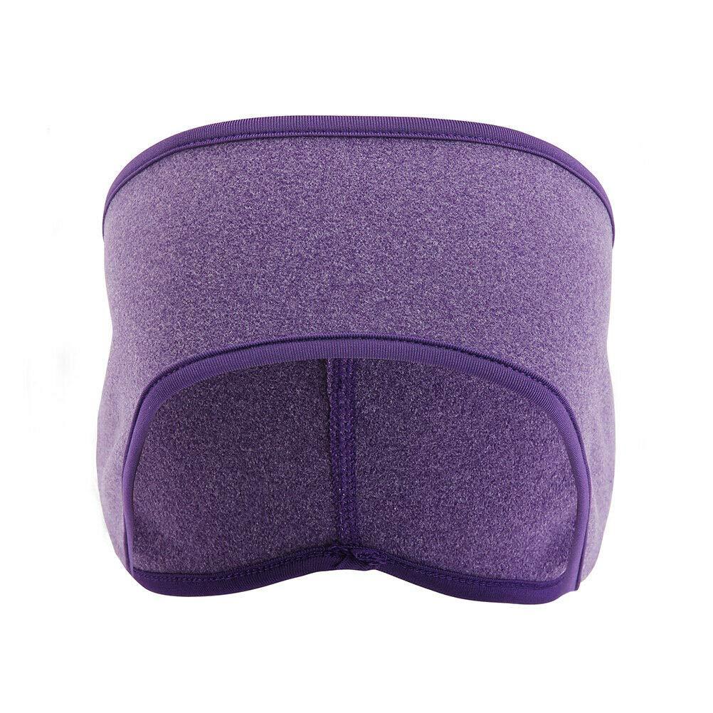 Men Women Ear Warmers Fleece Headband Ski Warm Winter Cold Weather Ear Band #RP113 (Purple)