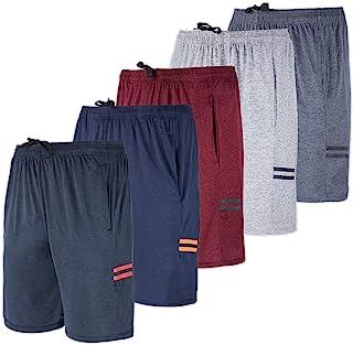 5 بسته: شلوارک شلوارک عملکردی ورزشی فعال در برابر عرق خشک مناسب مردان