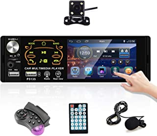 $55 » Podofo 4.1 inch HD Touchscreen Single Din Car Stereo Bluetooth Audio Receiver MP5 Player Support FM TF AUX USB with Backup...