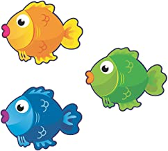 Fun Express Bulletin Board Cutouts - Fish - 48 Pieces - Educational and Learning Activities for Kids