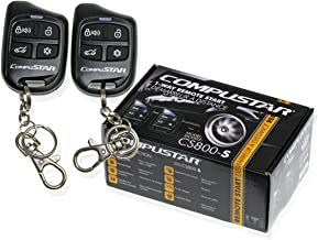 Compustar CS800-S 1-Way Remote Start with 2 4-Button Remotes 1000 Feet Range CS800S CS800