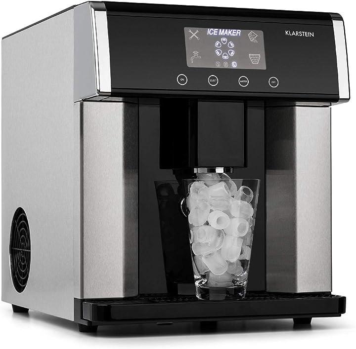 Macchina del ghiaccio, 3 forme diverse di cubetti, 10-15 kg/24 h, serbatoio acqua: 3 l, display lcd ICE5-3100-fkje
