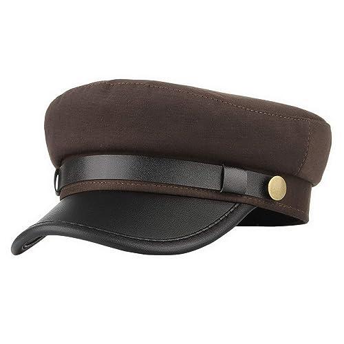 74bc1cff9d6 Brcus Men Women Yacht Captain Sailor Hat Newsboy Cabbie Baker Boy Peaked  Beret Cap