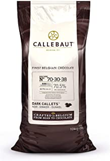 Barry Callebaut Dark Chocolate Callets | 70.5% Cocoa | Recipe 70-30-38 | Cacaoholic Scooper | 22 Pounds