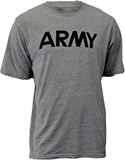 Soffe Military Dri-Release T-Shirt - Gray - with Reflective Army Logo, 3 Pack