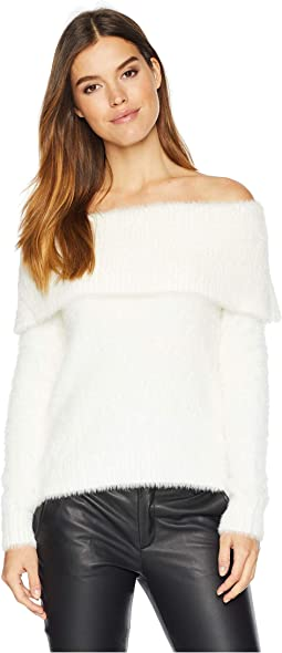 Fur Yarn of the Shoulder Sweater KSNK5921