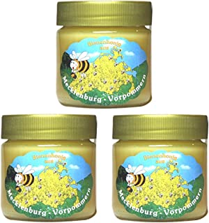 Blütenhonig 3 x 250ml | Deutsche Herkunft - Mecklenburg | reiner Honig - direkt vom Imker keine Massenware