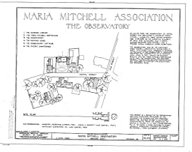 Historic Pictoric Structural Drawing HABS Mass,10-NANT,100- (Sheet 1 of 8) - Maria Mitchell Observatory, 3 Vestal Street, Nantucket, Nantucket County, MA 55in x 44in