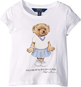 e23cfeb17 Polo Ralph Lauren Kids Cricket Bear Cotton Tee (Little Kids) at ...