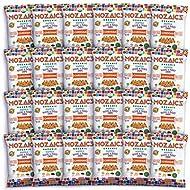 Mozaics Organic CHEDDAR - Popped Veggie & Potato Chips (24-pack) | Healthy Pea Protein Crisps | Gluten free (0.75 oz single serving bags)