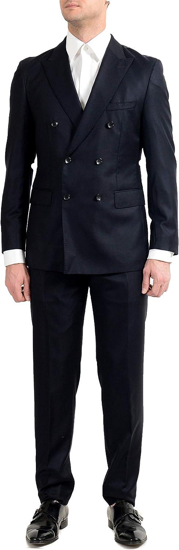 Hugo Boss T-Navin/Bennet Men's 100% Wool Dark Blue Double Breasted Suit US 46R IT 56R