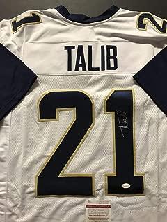 Autographed/Signed Aqib Talib Los Angeles LA White Football Jersey JSA COA