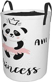 Pliant Grand Panier à linge pour le Ménage,Je suis une princesse drôle de ballerine panda ours dansant en jupe rose,Bac de...