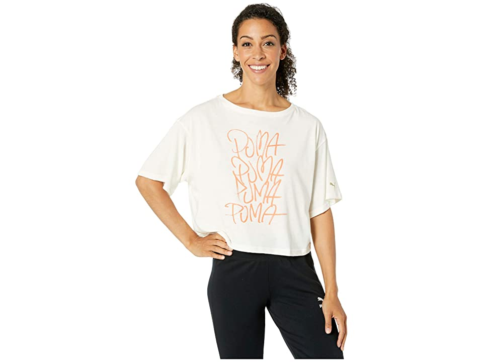 PUMA Sweet Loose Crop Tee (Whisper White) Women