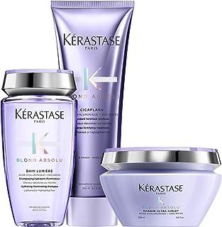 Blond Absolu Bain Lumiere Shampoo & Cicaflash Treatment 8.5 Oz Each & Masque Ultra-Violet 6.8 Oz